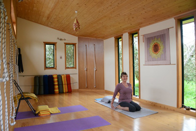 Room To Move Yoga Studio in Marahau, the entrance to the Abel Tasman